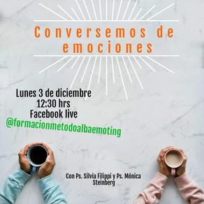 Hablemos de Emociones, Facebook live