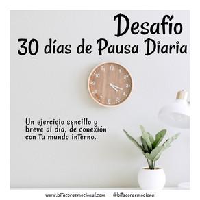Desafío gratuito 30 días de Pausa Diaria