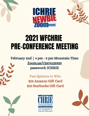 2021 WFCHRIE Pre-Conference Meeting