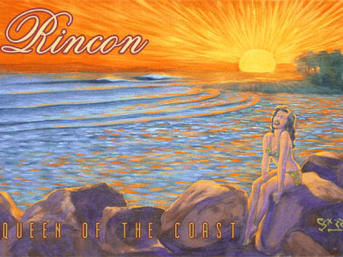 Queen of the Coast Rincon Surf Vintage California