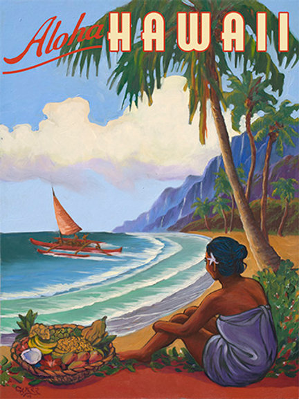 Aloha Hawaii Vintage Coastal Decor