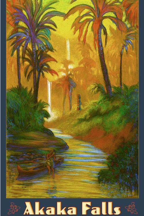 'Akaka Falls Hamakua Big Island Art Print