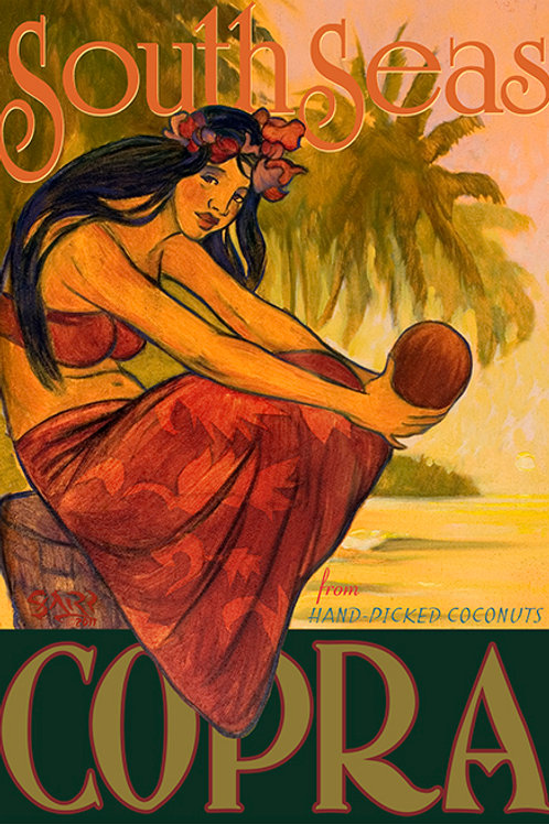 Copra Vintage Hawaii Art Travel Poster