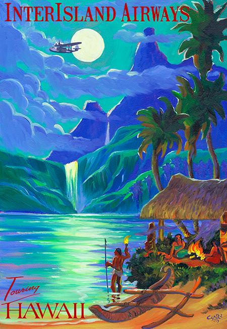 Vintage Hawaii Travel Poster 119