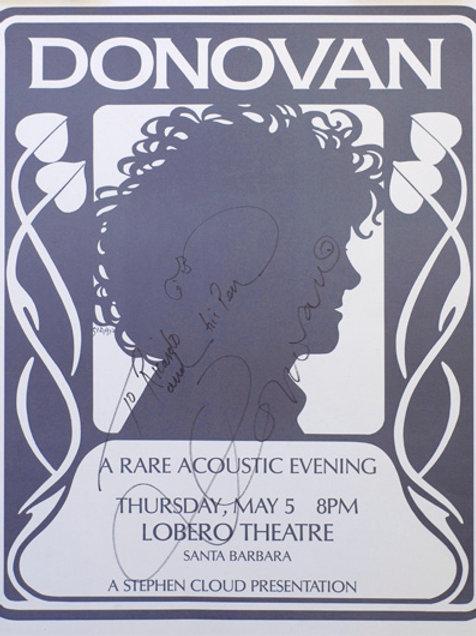 Donovan Concert Poster