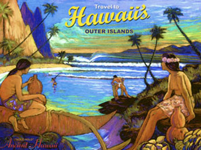 Outer Islands Holo Holo Vintage Hawaii Art Print
