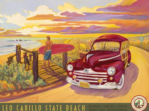 Leo Carrillo State Beach Vintage California Art