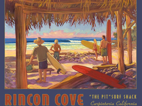 Rincon Cove Vintage California Art Print
