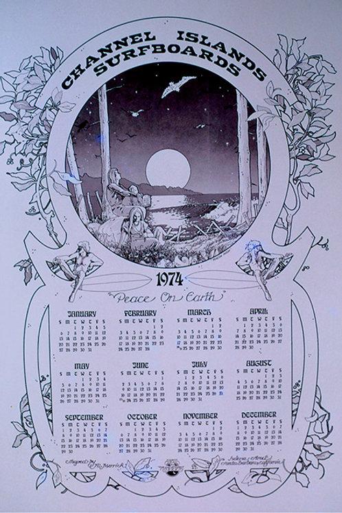 Channel Islands 1974 Calendar