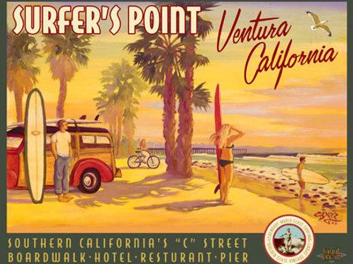 Surfer's Point C Street Ventura California Vintage