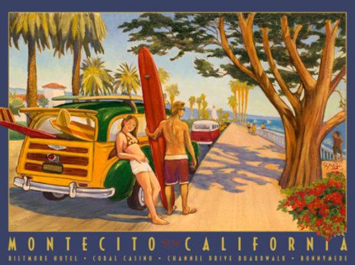 Channel Drive Montecito Vintage California Print
