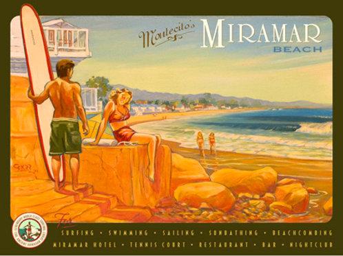 Santa Barbara Miramar Vintage California Art Print