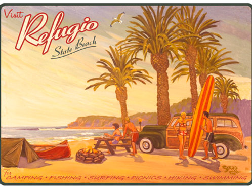 Refugio State Beach Vintage California Art Print