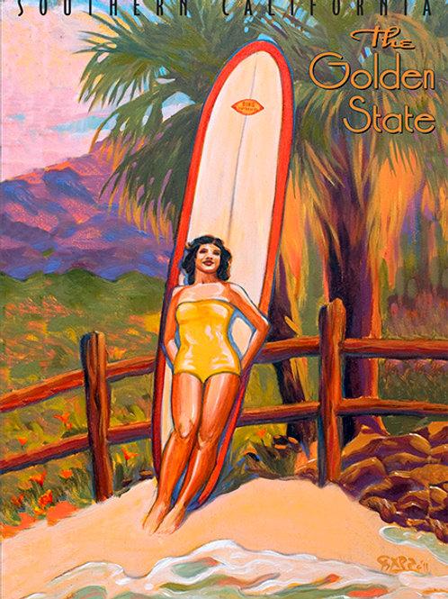 Golden State California Vintage California Art