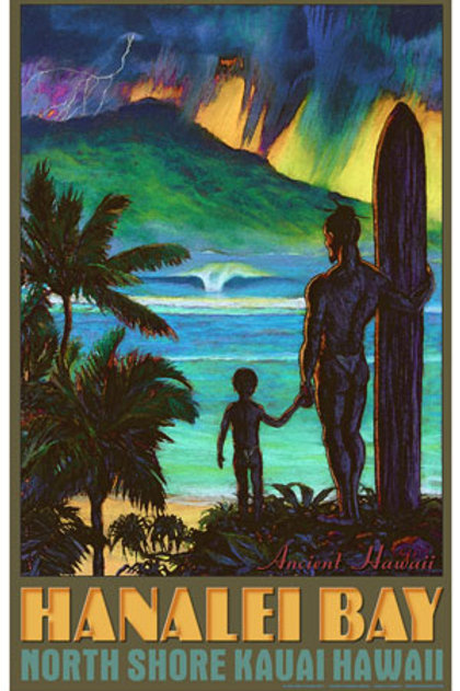 Hanalei Bay North Shore Kauai Hawaii Surf Art
