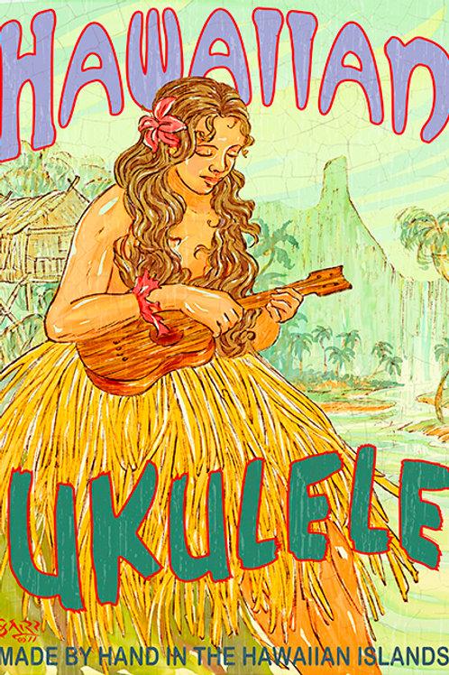 Ukulele Vintage Hawaii Art