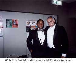 On tour with Branford and Orpheus