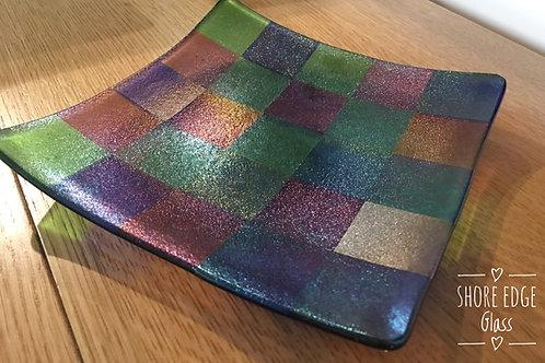 Irridised Glass Platter/Bowl