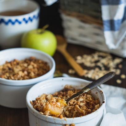 apple, pear and ginger crumble.
