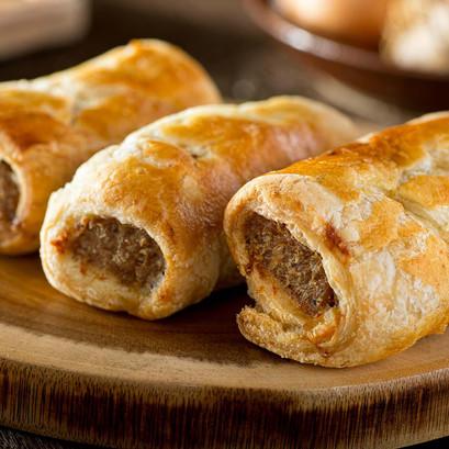 sausage roll snacks.