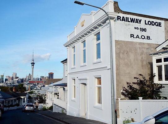 Historic hall under renovation, Auckland, NZ.