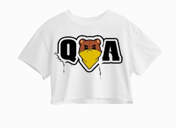 """Q.O.A"" Women Crop-Top"