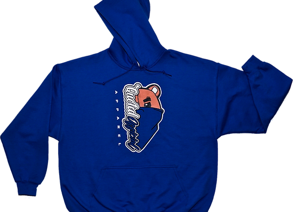 Quoted Official Blue half-face Pullover