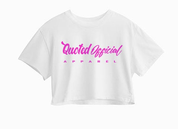 Quoted Official Women White Crop-Top