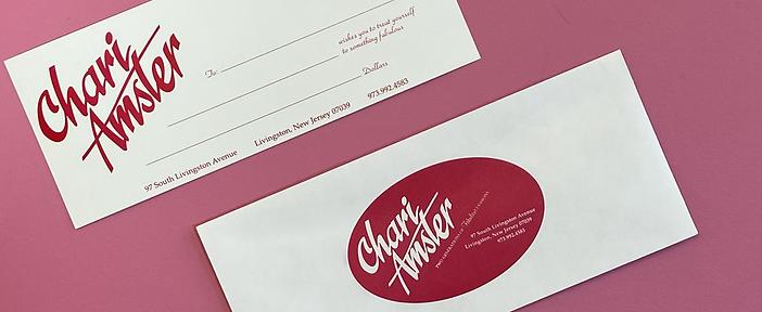 Chari Amster Gift Certifictes