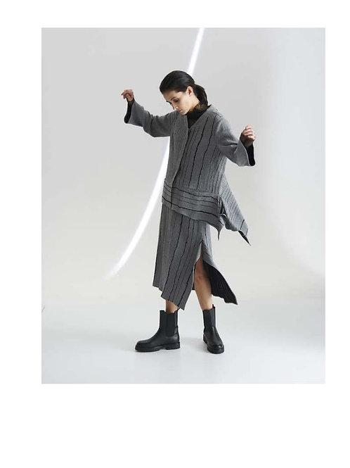 Broken stripe easy jacket