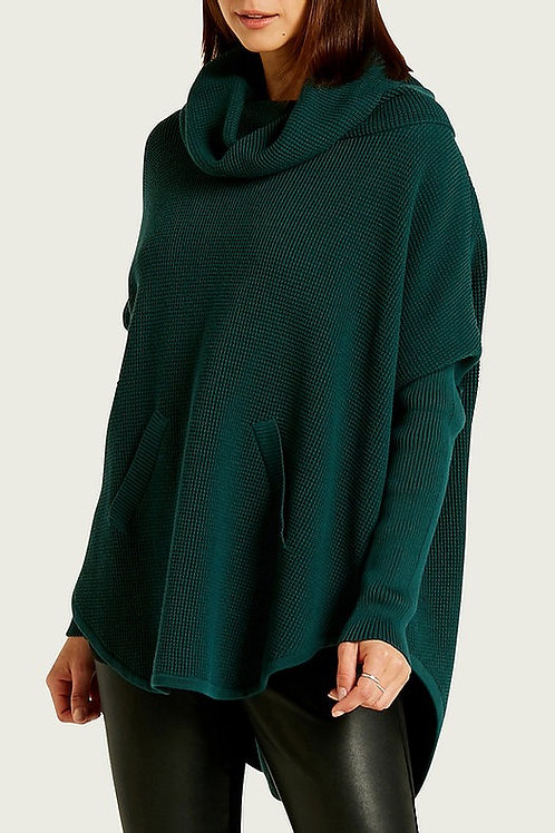 PLANET WAFFLE COWL SWEATER