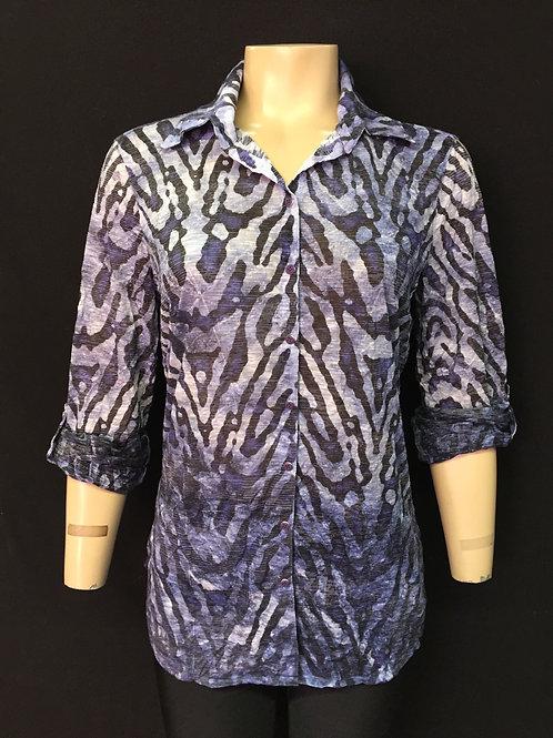 David Cline snap front shirt animal print