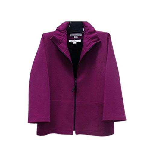 Caroline Rose zip front boxy jacket