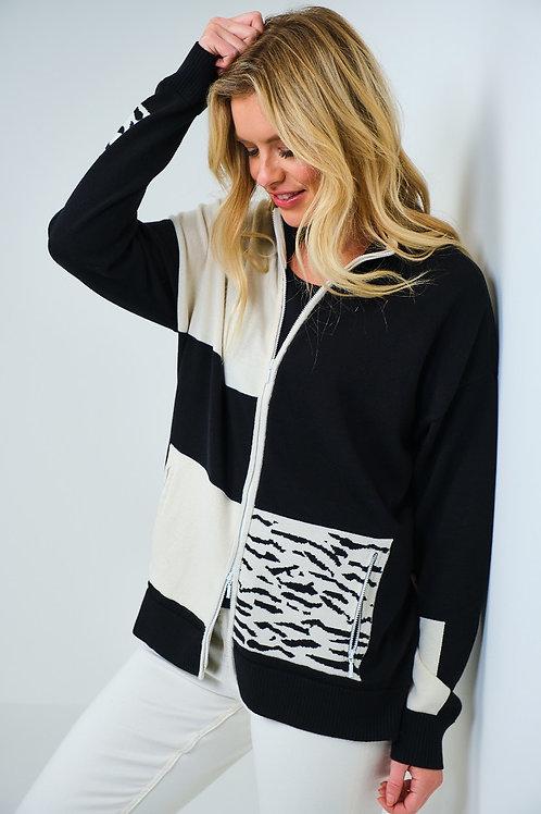 Edinburgh cotton zip front cardi