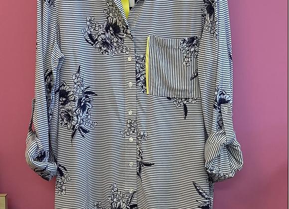 Stripe print easy shirt