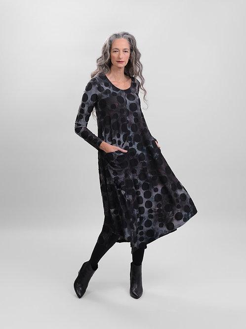Alembika  Tie Dye Dotted Swing Dress