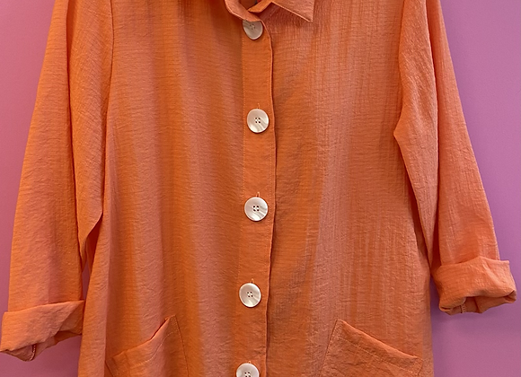 Krinkle shirt jacket