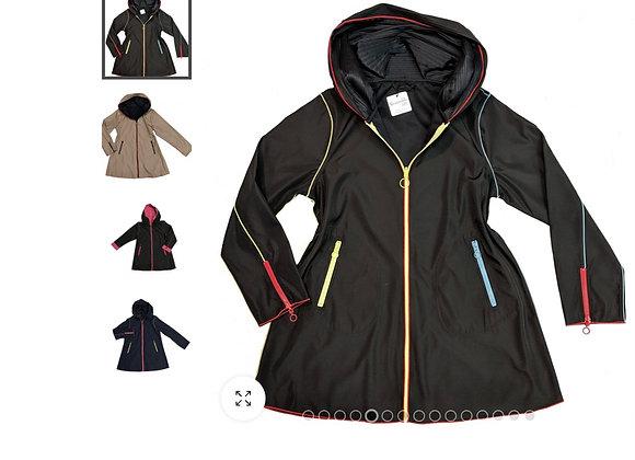 Reversible raincoat easy fit