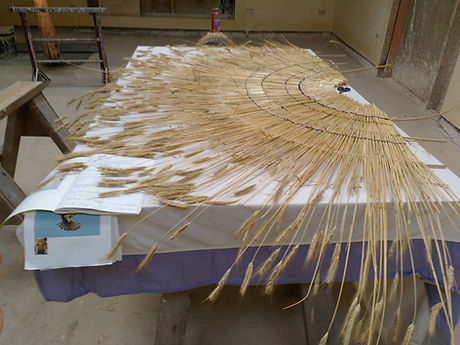 UP Straw wing sculpture WIP