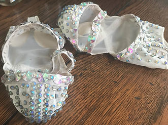 Rhinestone dance shoes