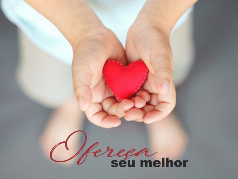 coração, ofereça seu melhor, presente