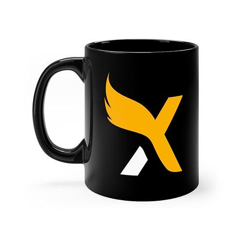 XMD X - Black mug 11oz