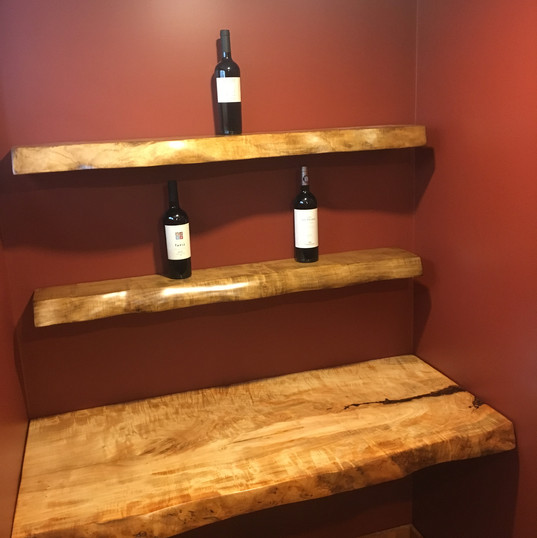 Curly Maple Shelves