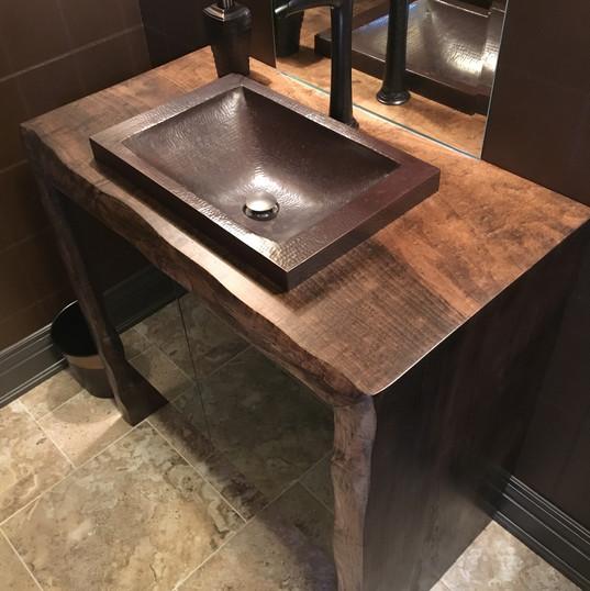 Canadian Maple Bathroom Countertop