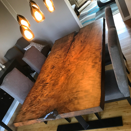 Curly Maple Dining Table