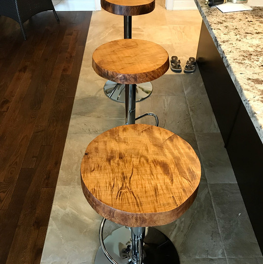 Curly Maple Bar Stools