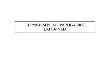 Reimburesement Paperwork