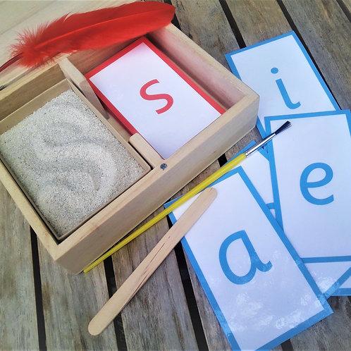 Writing and mark making set, Montessori inspired
