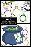 Magic potion writing frame- 6 designs.pn