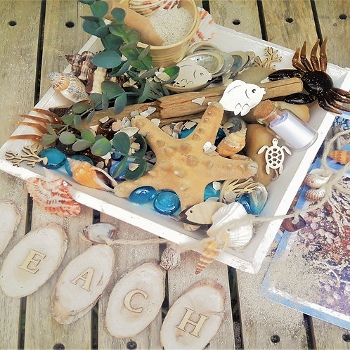 Beach habitat themed loose parts
